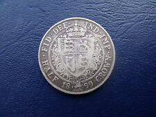 More details for 1899 half crown queen victoria .925 sterling silver coin