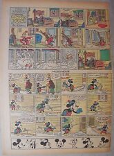 Mickey Mouse Sunday Page by Walt Disney from 2/7/1937 Tabloid Page Size