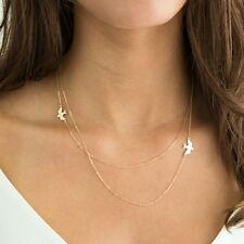Halskette mit Schwalben Anhänger , Silber , Gold Vögel Liebe