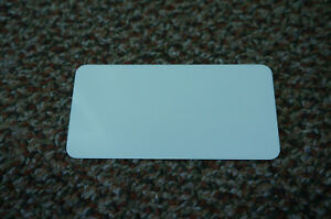 Pack of 20 Sublimation Blanks for Name Tags with White Background 4 1/8 x 2 1/16