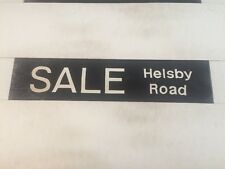 """Manchester Linen Bus Blind May 1976 (29"""") Sale Helsby Road"""