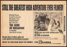 THE GUNS OF NAVARONE__Original 1966 Trade AD / poster__GREGORY PECK__DAVID NIVEN