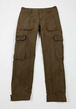 Tommy hilfiger pantalone donna usato W26 L32 tg 40 marrone cargo boyfriend T5425