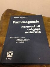 Gunnar Samuelsson – Farmacognosia. Farmaci di origine naturale – emsi – 1994