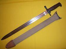 1906 M1905 Us Sa Bayonet & 1906 M1905 Scabbord Web Throat Leather Tip Uniss Usmc