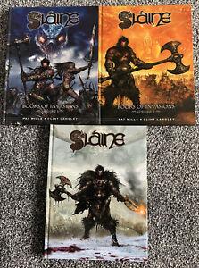 SLAINE Books of Invasions Volume 1, 2 and 3 - RETRO - VGC - Free UK PP