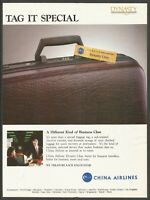 CHINA AIRLINES (CAL) . Dynasty Class  - 1987 Vintage Print Ad