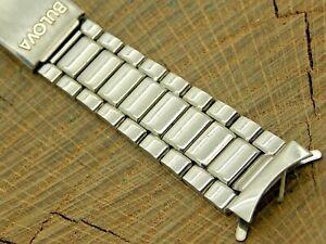 Vintage Original Bulova Deployment Clasp Stainless 17.5mm Watch Band NOS Unused