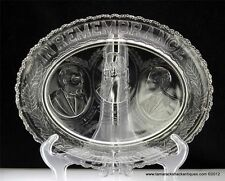 EAPG Early 19thC In Remembrance President Garfield Lincoln Washington Platter