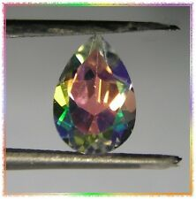 Moonglow Orange Mystic Topaz 10mm x 7mm Pear Cut Gemstone - 2.30 ctw