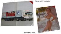 Scania M 113 Poster Beilage Trucker 1985 Lkw Lastwagen Nutzfahrzeug truck Sweden