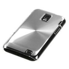 AT&T SAMSUNG FOCUS S i937 BRUSHED ALUMINUM ACRYLIC SNAP-FIT CASE SILVER