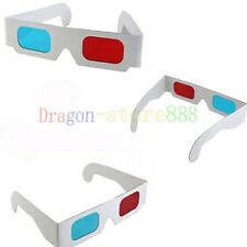 5x Red Blue Cyan 3D Dimens Anaglyph Glasses for movie DVD Game Free shipping