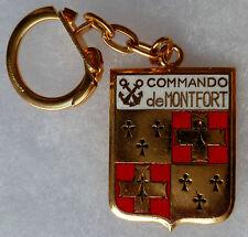 PORTE CLE Insigne COMMANDO MARINE DE MONTFORT ORIGINAL émail ancien AB PARIS