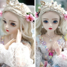 Pretty 1/3 BJD Doll Jointed Girl with Free Eyes Face Make up Clothes Full Set