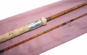 """Peter Stone Ledger Strike split cane avon river rod with 3"""" short tip, ready ..."""