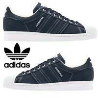 Adidas Originals Superstar Sneakers Men's Casual Shoes Running Off White Navy