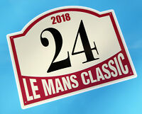 LE MANS 24 HOURS 'CLASSIC' 2018 PAIR of DOOR NUMBER stickers decals Monte style