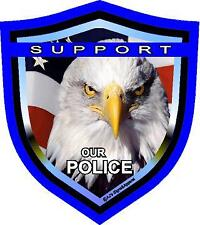"""Support Police Shield 5"""" vinyl car laptop or window sticker decal"""