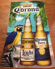 vintage Corona Beer Beach Towel Parrot Clean 68 x 39