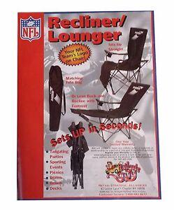 Jacksonville Jaguars NFL Camping Tailgating Folding Lounge Chair recliner