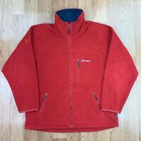 BERGHAUS Mens POLARTEC THERMAL PRO Fleece Jacket | Full Zip Outerwear | XL Red
