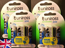 16 UNiROSS AA LR6 800 Series Rechargeable Batteries Ideal for Solar lights SALES