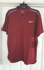 Nike Roger Federer Tennis Polo Shirt mens sz M burgundy NWT