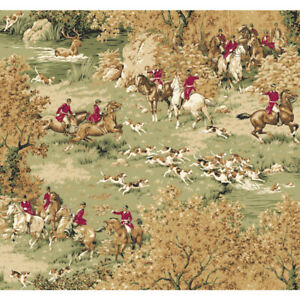 Horse and Hound Wallpaper Designer York Wallcoverings MS8248 Houndstooth SAMPLE
