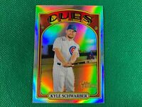 2021 Topps Heritage Chrome Refractors #139 Kyle Schwarber 437/572 Chicago Cubs