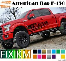 2X for Ford F-150 1948-2020 pair side decals American FLAG graphics CUSTOM F150
