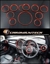 F56 Mini Cooper / S / ONE RED Interior anelli trim Kit per modelli w / o di navigazione XL