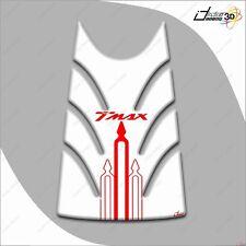 KIT ADESIVI RESINA 3D T MAX TMAX 2008-2011 MOTO CARENE PROTEZIONE BIANCO ROSSO