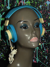 vintage TELEX BLUE ADJUSTABLE MONO HEADPHONES model 610-1 ham cleaned tested 1/4