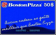 BOSTON PIZZA CANADA FRENCH AUCUN CADEAU MEILLEUR PIZZA COLLECTIBLE GIFT CARD