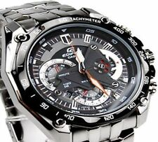 Imported Casio Edifice Luxury Men's Watch EF-550-1AV BLACK CHRONOGRAPH GIFT