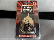 Star Wars Episode 1 Cloisonne Pin Qui-Gon Jinn unopened package-New