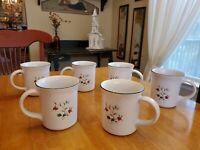 "Pfaltzgraff 12 oz Coffee/Tea Mugs Winterberry 4""×3.5"" Set of 6 EUC"