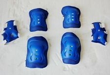 Blue Kids Cycling Roller Ski Skate Skating Knee Elbow Wrist Safety Gear Pads