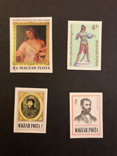 Hungary Scott No. 2433,2434,2335,2336 MNH Imperforate Imperf Imp Cats $ 26.50