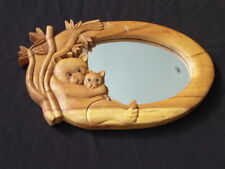 Panda Wall mirror for kids with wood carved frame CV Apollo(uk)