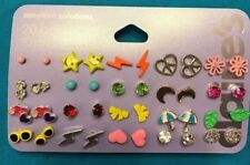 20 New Pairs Claire's Star Heart Flower Umbrella Sunglasses Moon Stud Earrings