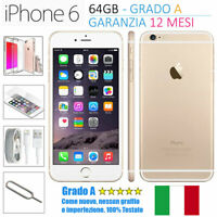 SMARTPHONE APPLE IPHONE 6 64GB ORO GOLD RICONDIZIONATO GRADO AA++ SBLOCCATO