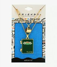 Friends TV Show CENTRAL PERK GUEST CHECK LOCKET LAYERED NECKLACE Coffee Charm