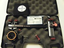 "4"" DAVIS TARGET SIGHT- Double knob-8.5 -black/red knobs-scope .019 green."