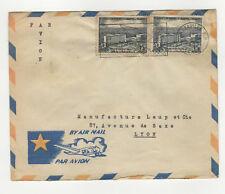 Moyen-Congo 2 timbres sur lettre 1959 tampon Brazzaville /L145