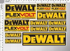 1 set dewalt flex volt high efficiency accessories decal sticker die-cut toolbox