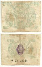 GUERRA CIVIL (NOTGELD) (MURCIA) 0,50 PESETAS DE 1937 (BC)
