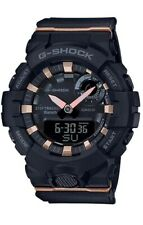Casio G-Shock * GMAB800-1A G-Squad Step Tracker Black & Rose Gold Watch Women
