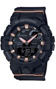 Casio G-Shock * GMAB800-1A G-Squad Step Tracker Black & Rose Gold Watch Women